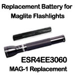 This OEM exact-match MAG-1 ESR4EE3060 Maglite Replacement Battery is built to the manufacturer's specifications.  Used in Maglite and other popular flashlights.